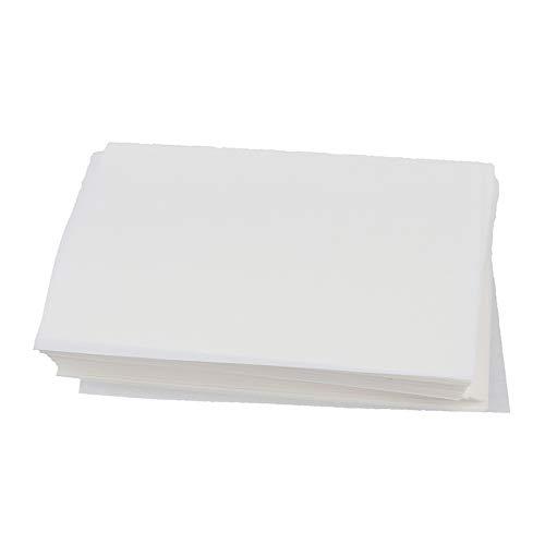 TIAN TIAN Lot de 500 feuilles de papier gaufrette antiadhésives rondes et carrées pour chignon à la vapeur