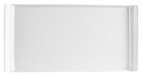 CAC China Long Island Porzellan-Teller, rechteckig, Weiß 24er-Box 9-7/8-Inch by 5-Inch Super;Bright;White;CAC China