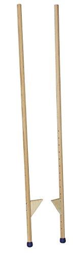 pedalo Stelzen 170 cm I 120 kg belastbar I Profi-Stelze I Antirutsch Holzstelzen I Kinder bis Erwachsene