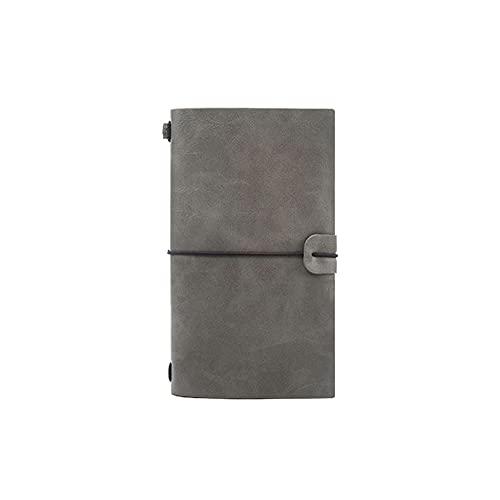 FEANG Bloc de Notas Diario de Notebook Classic Premium Papel Grueso con Cuero de Bolsillo Interior Fino para Escritura de Diario Nota Tomar Diario Diario (Color : C)
