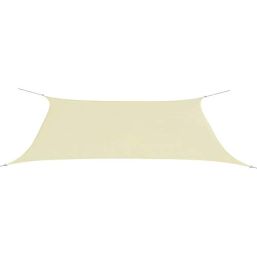 vidaXL Toldo de Vela Rectangular Lona de Sombra Protección Rayos UV Patio...