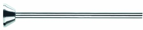 Spirella telescopische douchestang douchegordijnstang, telescoopstang, verstelbereik 125-220 cm, Ø12,7 cm, roestvrij staal, om te plakken of te boren, met bijpassende douchegordijnringen