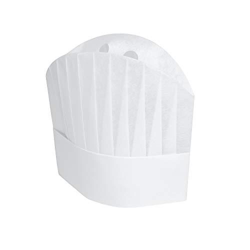 european white chef hat - 5