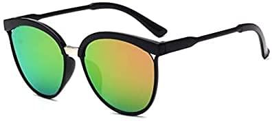 Gafas de sol para mujer, unisex, de metal, multicolor, protección UV400, para deportes al aire libre, golf, ciclismo, pesca, senderismo, gafas de sol (F)