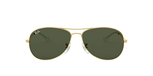 Ray-Ban unisex adult Rb3362 Cockpit Sunglasses, Gold/Green, 59 mm US
