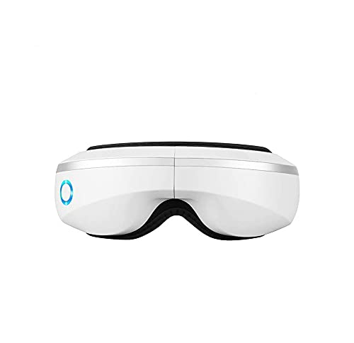 Eye Massager with Air Pressure,Music,Wireless Rechargeable Foldable Temple Massager,Rechargeable Eye Therapy Massager for Relieve Eye Strain Dark Circles Eye Bags Dry Eye Improve Sleep