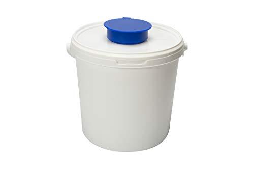 Spendereimer Weiß | 6,2 L | für alle Vliestuchrollen geeignet | transparenter Deckel + aufgesetzter Feuchttuchentnahme | Ideal für Hygienebereiche - wie Medizin, Praxen uvm.
