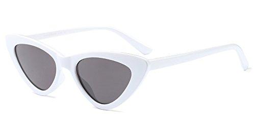 BOZEVON Mujer Gafas de Sol Retro Moda gafas Triángulo, Leopardo/Marrón