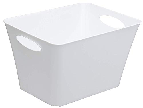 Rotho Living Aufbewahrungsbox 24l, Kunststoff (PP) BPA-frei, weiss, 24l (43,1 x 32,1 x 26,0 cm)