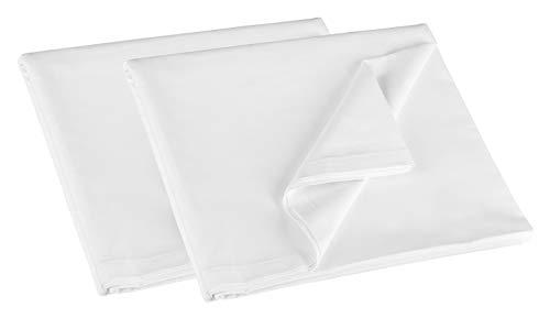 ZOLLNER 2er Set Bettlaken, 100% Baumwolle, 150x260 cm, 125g/qm, Hotelqualität