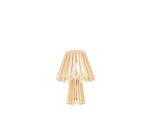 Lámpara de mesa color madera clara 28 cm CLYDE