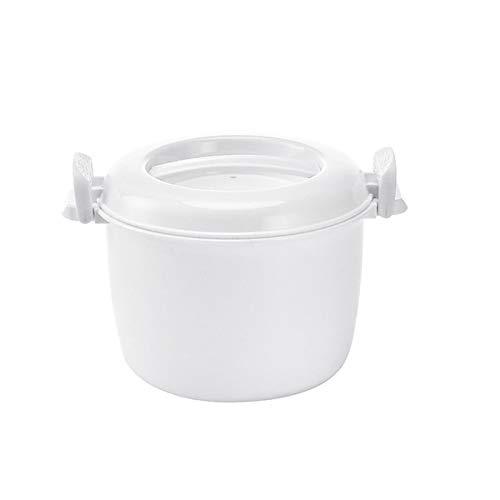 SODIAL Olla Arrocera para Microondas Recipiente Peque?o Multifunción para Almuerzo Olla para Microondas Utensilios de Cocina para Horno Microondas 17,5X21X14 Cm