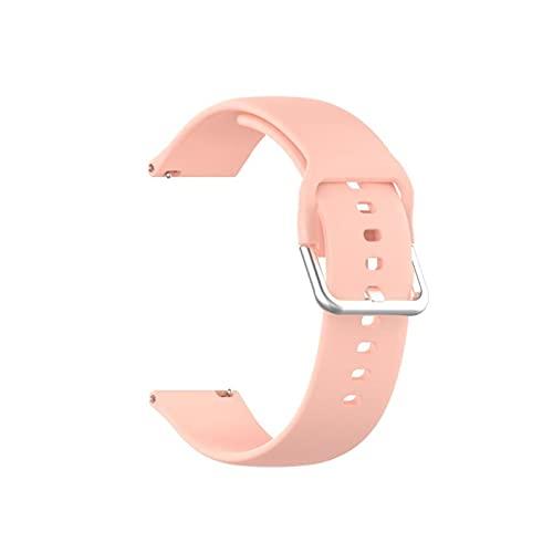 GYY para Xiaomi Haylou Solar LS05 Smart Watch Pure Color Silver Behle Strap Sports Dos-Color SmartWatch Banda Pulsera De Pulsera 22mm (Color : 9)