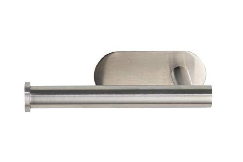 WENKO Turbo-Loc toiletpapierhouder Orea mat, bevestigen zonder boren, papierrolhouder voor handmatig opbergen van het toiletpapier, in roestvrij staal mat 16 x 4,5 x 7 cm