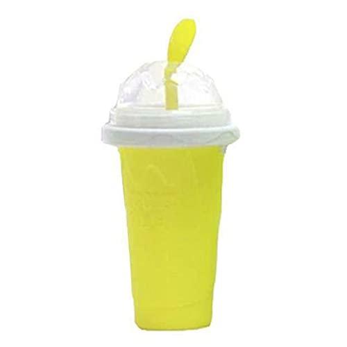 Qingxin Slushy Ice Cream Maker Squeeze Peasy Slush Taza de enfriamiento rápido Botellas de batido