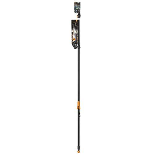 Fiskars 115562 Coupe-branches télescopique multifonctions avec adaptateur pour scie, Longueur 240-410 cm