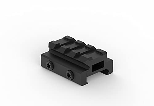 Monstrum Lockdown V3 Picatinny Riser Mount with Recoil Stop Base | 1.5 inch Length | Low Profile