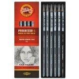 Koh-I-Noor 8915 PROGRESSO - Juego de grafito/acuarela, lápices completos sin madera - juego de 2 (cada uno de 6 piezas incluye 1 lápiz soluble en agua)