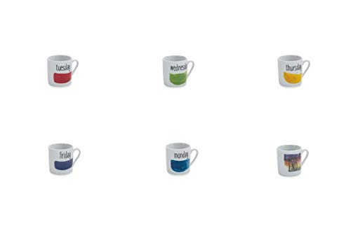 Galileo Casa 2192867 Set de 6 Tasses à Café, Porcelaine, multicolore