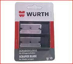 Würth 10x Schaberklinge 0714663351 für Würth Klingen- Glasschaber Ersatzklinge