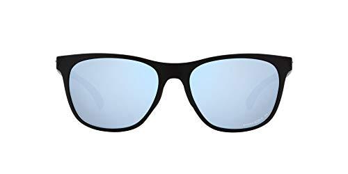 OO9473 Leadline Sunglasses, Matte Black/Prizm Deep Water Polarized, 56mm