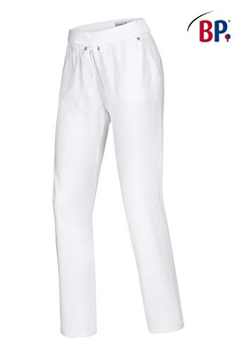 BP 1736-698-0021-56n spodnie rekreacyjne dla kobiet, z tkaniny Bi-Stretch, 270,00 g/m², mieszanka materiału ze stretchem, kolor biały,56 n