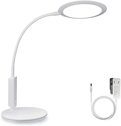 AERVEAL Luz de Lectura de Mesa Lámpara de Escritorio Led Enchufable de 15 W Lámpara de Mesa de Control Táctil de Atenuación Continua Lámpara de Estudio Flexible para Oficina en Casa, 72 Cuentas de Lá