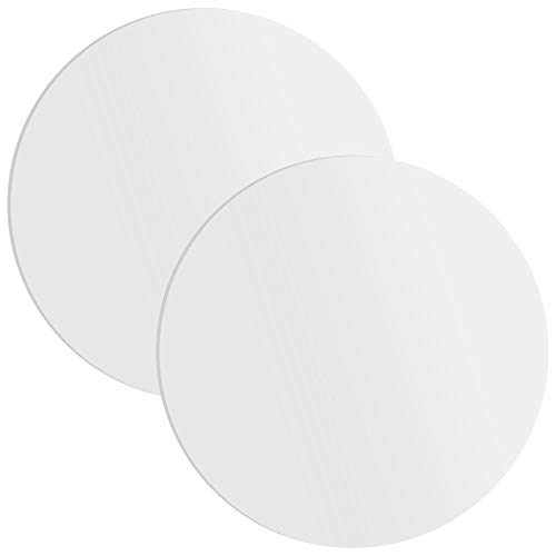 PETTYOLL 2PCS 12Inch Plexiglass Circle Clear Acrylic Plexiglass Round Disc Water Resistant and Smooth Edges Perfect for Decorations, DIY Projects and Crafts