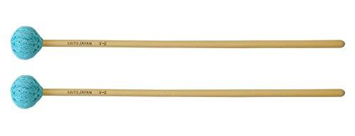サイトウ Saito ビブラフォン用マレット 永曽重光モデル 【V-2】 コード巻ヘッド 硬度:M(ミディアム) 長さ:37cm