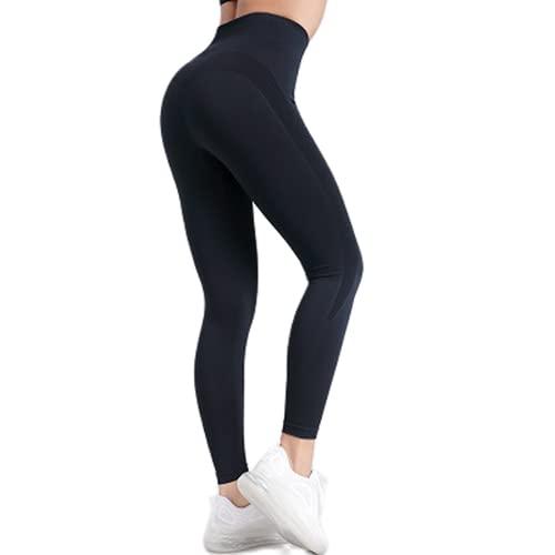 QTJY Pantalones de Yoga de Cintura Alta para Mujer, Leggings, Pantalones de Fitness al Aire Libre, Pantalones Deportivos de Secado rápido elásticos, Pantalones de Yoga BL