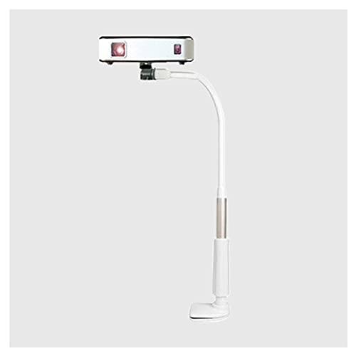 Pieds pour vidéoprojecteurs Stand de projecteur de col de cygne à 360 degrés peut être pivoté de projecteurs de bureau de chevet courbé arbitrairement courbé Tand Spiral Base Silicone Tapis anti-patin
