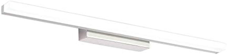 WPJQD Badspiegellampen Spiegelscheinwerfer Schminkspiegelleuchte Spiegelschrankleuchte Badbeleuchtung Weilicht 12W Schwarzwei (Farbe   A, gre   60.5cm)