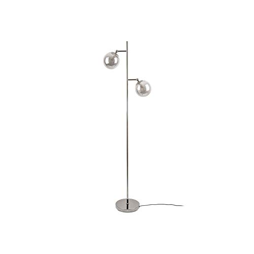 Leitmotiv by Present Time - Floor lamp - Stehlampe - Shimmer Smokey Grey - Metall/Glas - Grau - (HxD) 152cm x 23cm - Excl. 2X E14, Max. 25W.