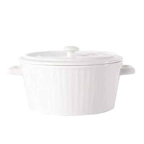 tomation Cuenco De Cerámica con Doble Oreja Cuenco De Sopa De Cerámica Binaural Cuenco De Cerámica para Microondas con Asa para La Cocina del Hogar