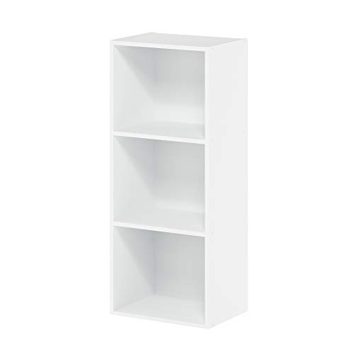 Furinno 3-Tier Open Shelf Bookcase, White+$20.82+FS