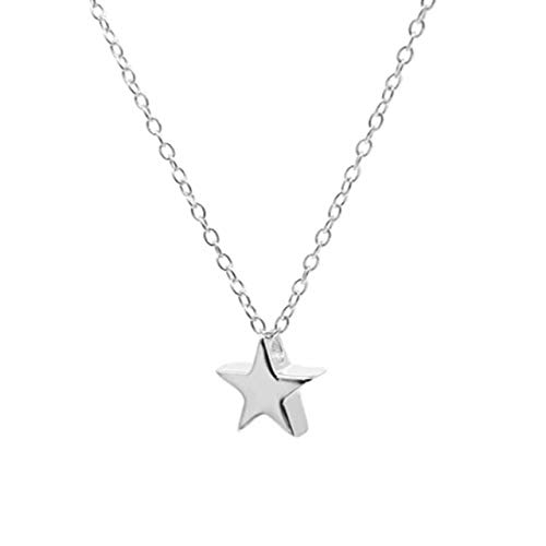 Silver Mini Star Necklace 925 Sterling Silver Necklace For Women 18k Jewelry Chain Choker Necklace Collares 1