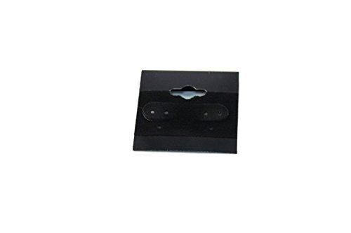 Regal Pak? Negro Plain para colgar pendientes tarjeta (100piezas en un paquete) 11/2'x 11/2'Por Regal Pak