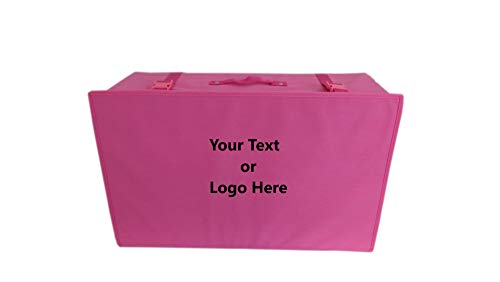 Wedcova Personalised Breathable Bridal Wedding Dress Travel Storage pH neutral Box Medium Size Flight Cabin Size Box With 10 Acid Free Tissue Papers (PINK)