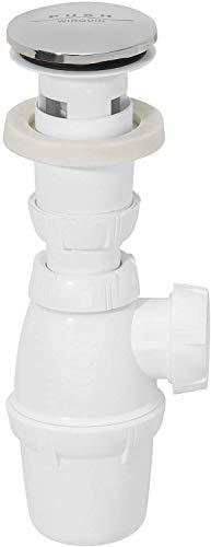 Wirquin SP50099 Quick-clac - Desagüe de lavabo sin rebosadero con sifón y...