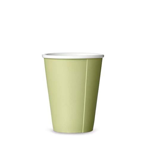 Kaffeebecher Porzellan mit Matt Finishing ohne Henkel, Große Kaffeetasse, Design Teetasse Ocean 0,30L