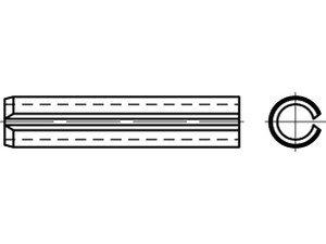 DIN 1481 1.4310 Spannstifte (Spannhülsen), schwere Ausführung - Abmessung: 10x50 (50 Stück)