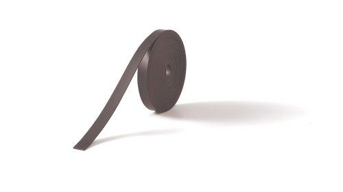 Nobo - Cinta adhesiva magnética (10 mm x 5 m), negro