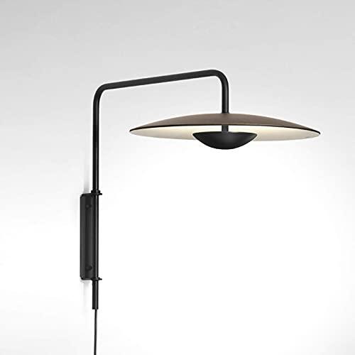 Aplique de pared, lámpara de pared minimalista moderna LED con enchufe e interruptor, lámpara de pared de decoración de arte nórdico para interiores, aplique de pared industrial de metal para sala de