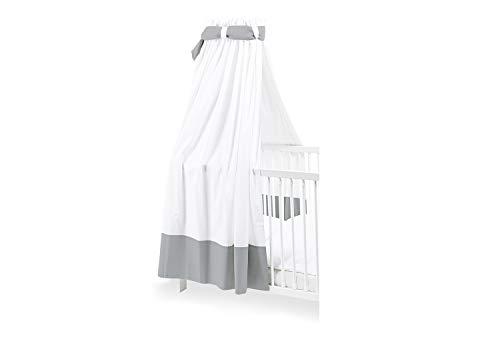 Pinolino 640890-8 Himmel für Kinderbetten, grau