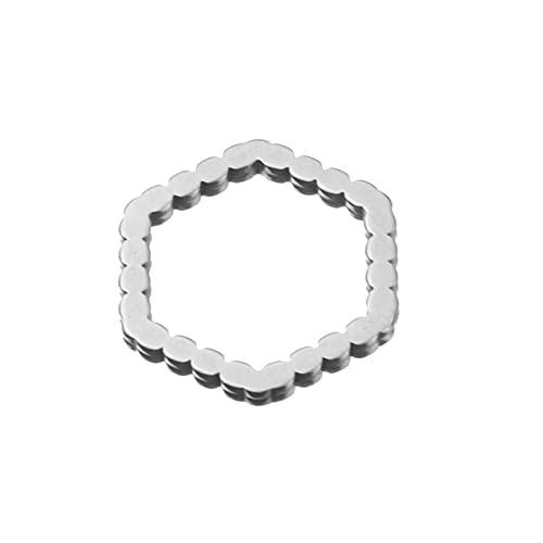 BOSAIYA PJ1 10 unids Acero Inoxidable lágrimas de lágrimas hallazgos círculo componentes Luna Oval corazón triángulo encantos Conectores para Pendientes Haciendo Tl0626 (Color : S8)