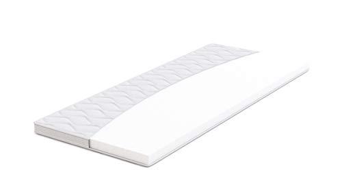 Amazon Basics - Sobrecolchón, espuma de alta resistencia, semi firme H3 - 160 x 200 cm