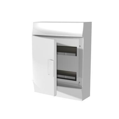 Abb-entrelec mistral41f - Caja superficie mistral41w 24 módulos 2 filas puerta opaca