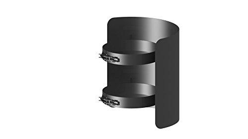 Ofenrohr - Strahlungsschutz; 250 mm Länge und 150mm Durchmesser, schwarz