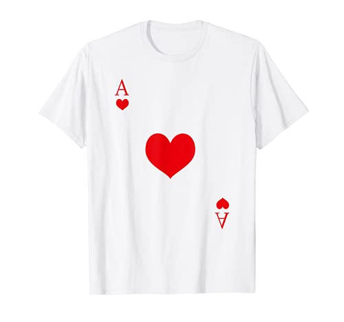 Herz Aß Karte   Kartenspiel Karten Poker Fasching Karneval T-Shirt