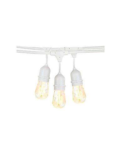 Guirnalda de cuerda blanca colgante IP65, 6 m, para 10 bombillas E27